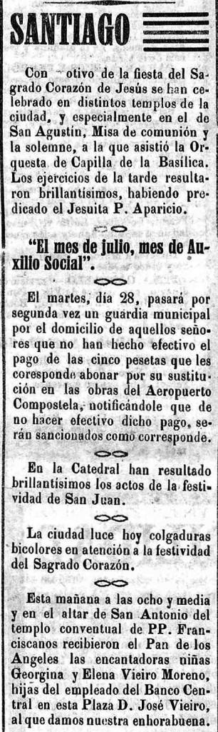 El Eco de Santiago diario independiente Año XLII Número 17422 1938 junio 24